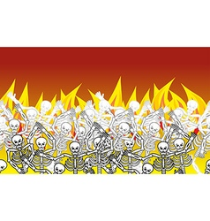 Sinners in fire hell horizontal pattern dead in vector image vector image