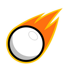 Sport ball fire white vector