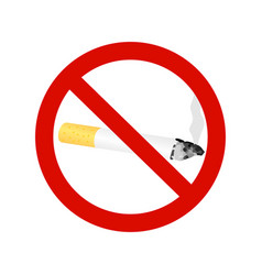 the sign no smoking cigarette vector image vector image