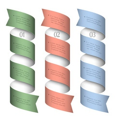 Three numbered ribbons banners vector image