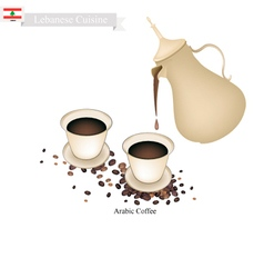Traditional Arabic Coffee Popular Dink in Lebanon vector image