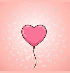 Valentines day balloon vector