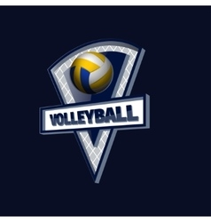 Volleyball logo for the team and the cup vector