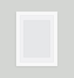 White picture frame design for image or text vector