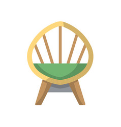 wooden armchair isolated icon in flat style vector image vector image