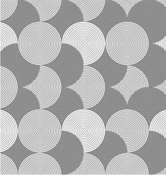 Slim gray striped overlapped circles vector