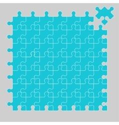 Parts of multicolor puzzles vector image