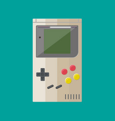 Old gadget handheld game console vector