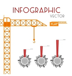 Building construction infographic vector