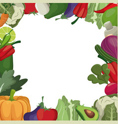 Vegetables fresh ingredients image vector