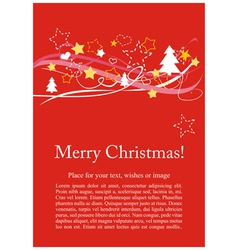Christmas card or invitation for party with wishes vector image