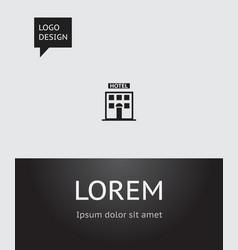 of trip symbol on motel icon vector image