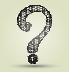 Question mark drawing vector image