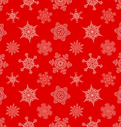 Seamless christmas red pattern with drawn vector