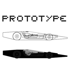 Prototype car vector