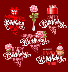 Birthday design elements set vector