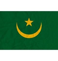 Mauritania paper flag vector