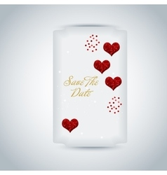 Wedding invitation or greeting valentine day card vector