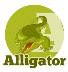 Abc cartoon alligator2 vector