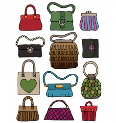 Hand drawn bags vector