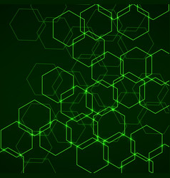 abstract background of hexagonal cells vector image vector image