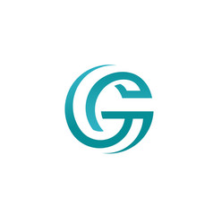 abstract best letter g circle style logo concept vector image vector image