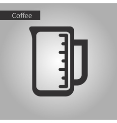 black and white style measuring cup vector image vector image