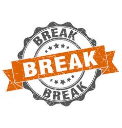 Break stamp sign seal vector