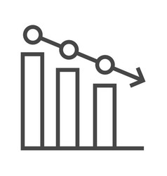 Chart line icon vector