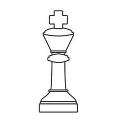 Chess game piece vector