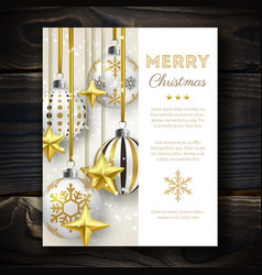 christmas background with shining stars snow and vector image vector image