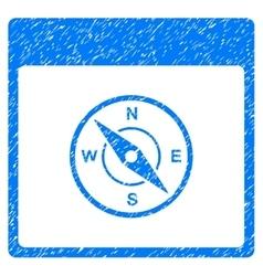 Compass calendar page grainy texture icon vector