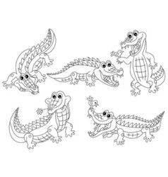 Crocodile Set vector image