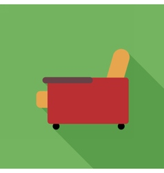 Digital orange and red armchair icon vector image vector image