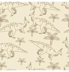 Dinosaur seamless retro vector image vector image