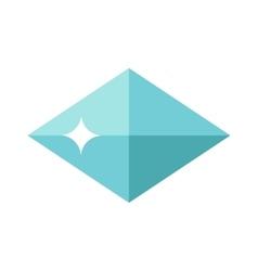 Flat design of blue gemstone vector