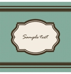 Green background with vintage frame vector image vector image