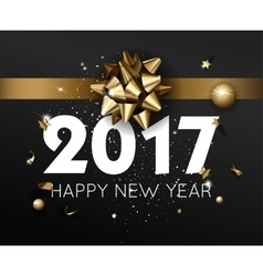 Happy new year 2017 greeting card or poster vector