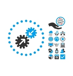 Integration Flat Icon With Bonus vector image vector image