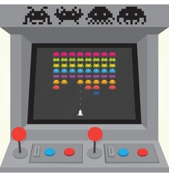 Invaders arcade machine vector image