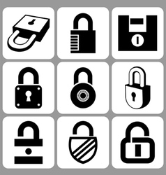 lock icons set vector image
