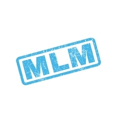 Mlm rubber stamp vector