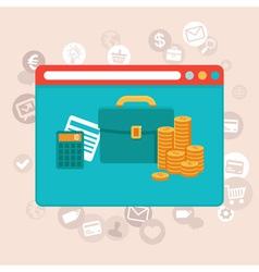 online app finance vector image vector image