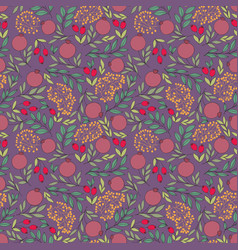 pomegranate seamless background for design vector image vector image
