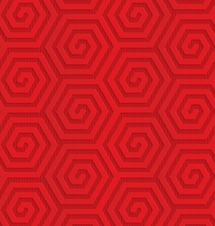 Red diagonal hexagonal spirals vector image vector image