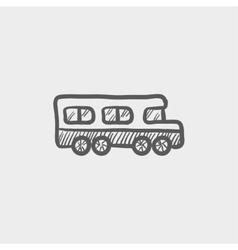 School bus sketch icon vector image