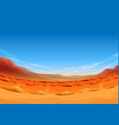 Seamless far west desert landscape for ui game vector