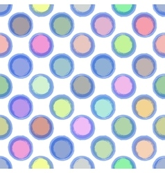 Seamless Ink abstract pattern with colour bubbles vector image vector image