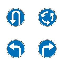 Set of variants a U-Turn forbidden - road sign vector image vector image