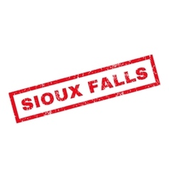 Sioux falls rubber stamp vector